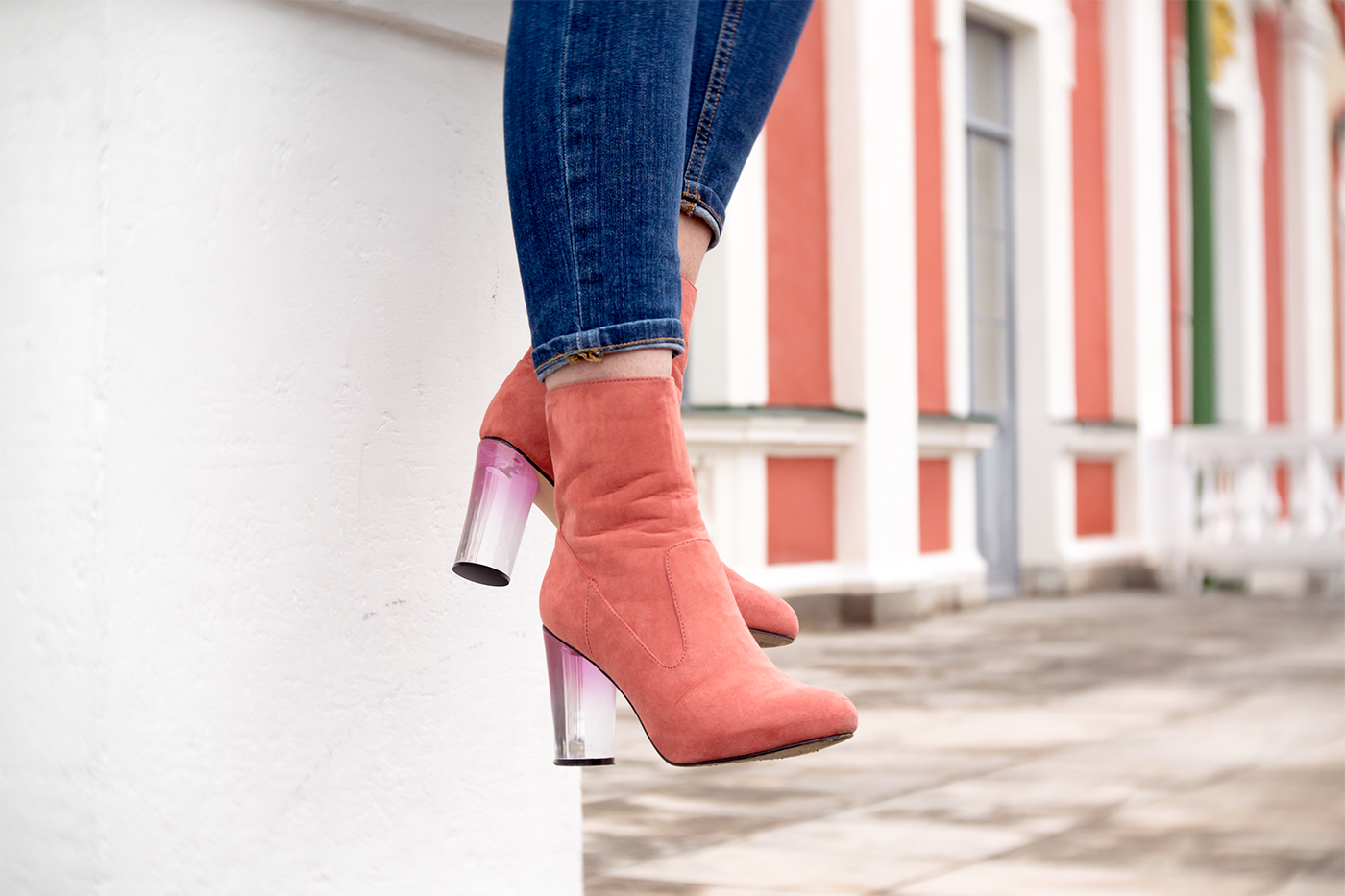 missguided pink boots
