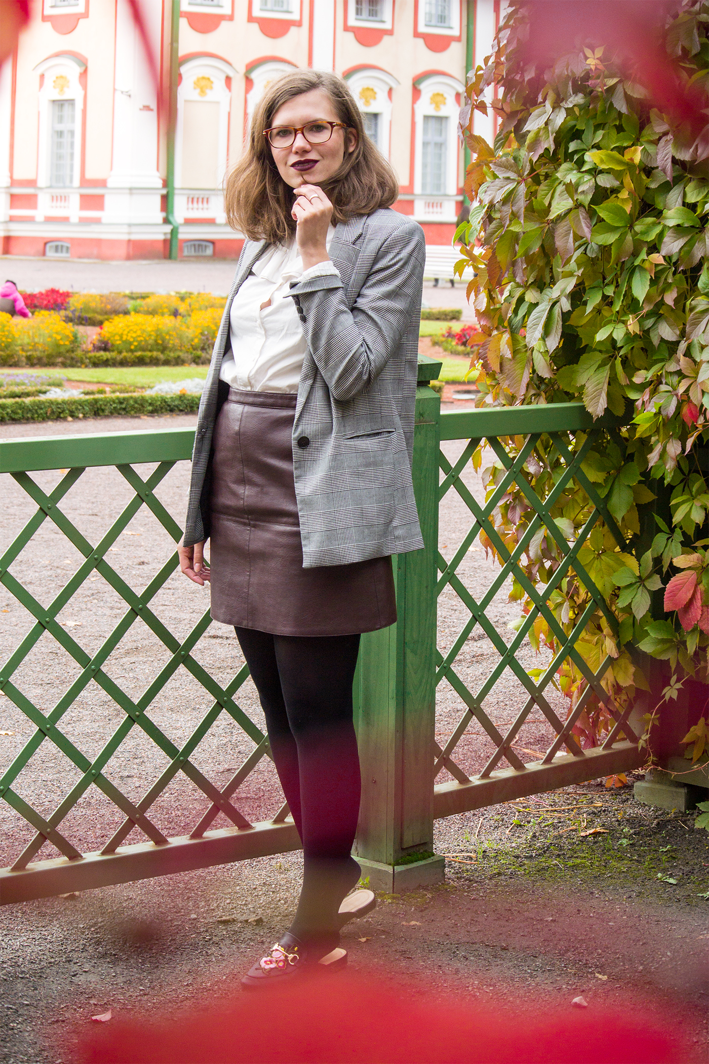 how-to-wear-checked-blazer-trend-autumn-2017